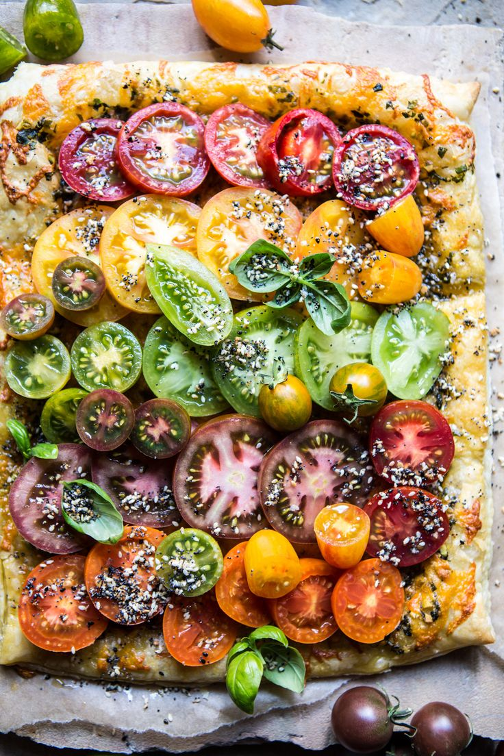 Heirloom Tomato Cheddar Tart with Everything Spice