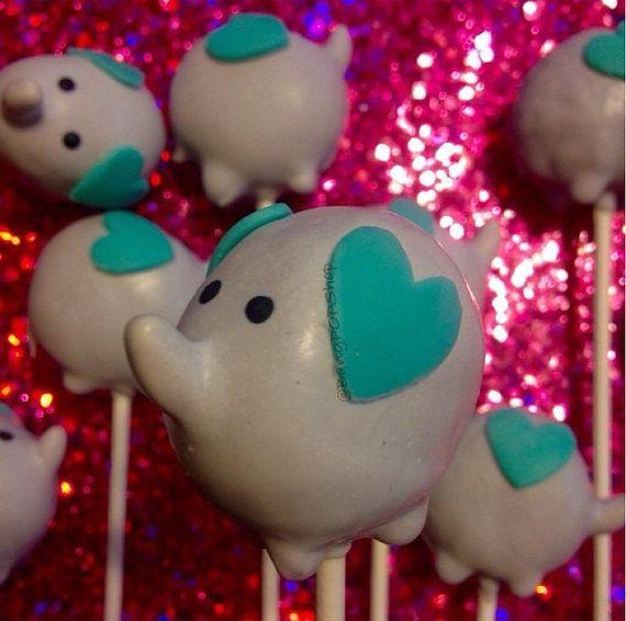 Elephant cake pops Baby Shower cake pops Boy or by BangPOPshop