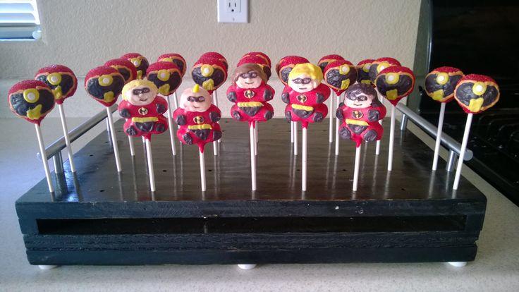 The Incredibles cake pops | K-Pops | Pinterest | Disney ...