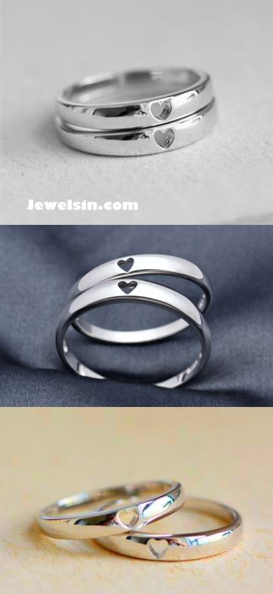 sterling silver heart to heart couple promise rings