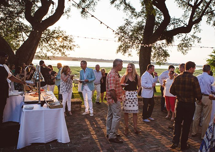 Lowcountry oyster roasts by PPHG Events are an authentic way to welcome wedding…