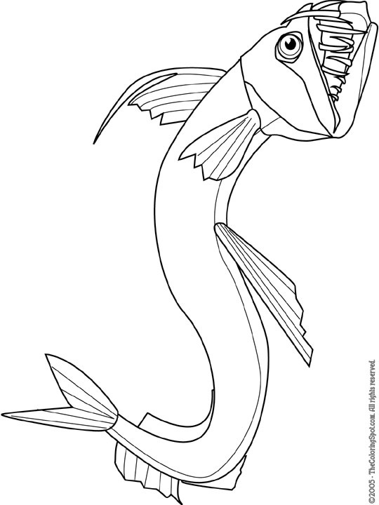 free angler fish coloring pages - photo#33