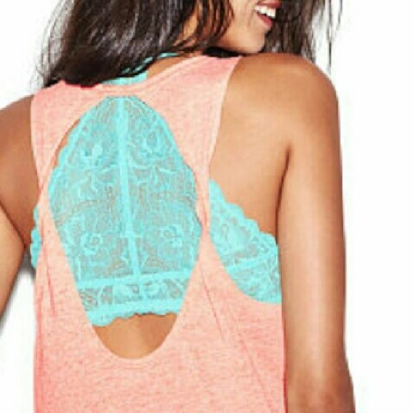 NEW PINK TOP NEW PINK OPEN BACK TOP SMALL PINK Victoria's Secret Tops Tank Tops