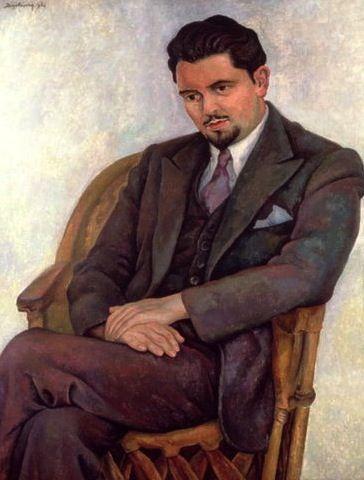 Diego Rivera: Portrait of the Poet Lalane, 1936