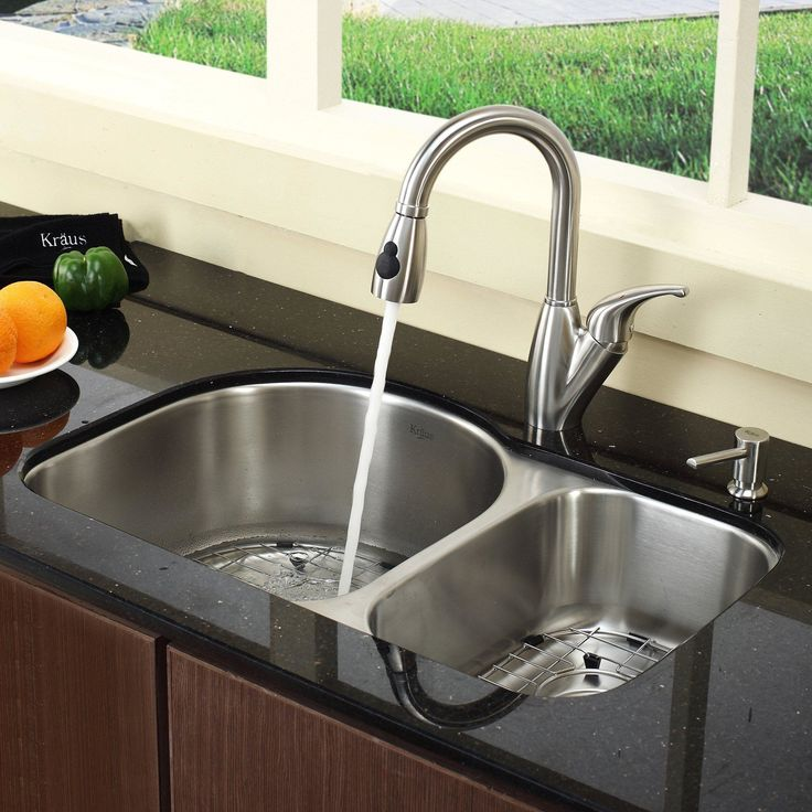 13 best Kitchen sinks and faucets images on Pinterest | Double bowl ...