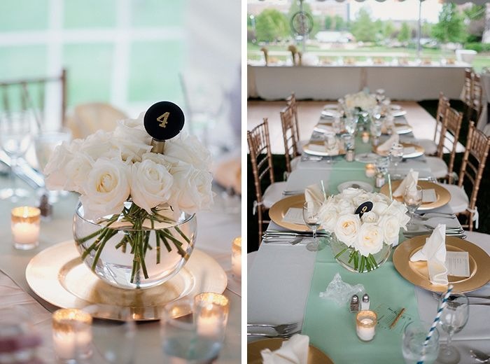 DIY glitter-dipped candle holders -- preppy aqua gold wedding scott patrick meyer photo 3