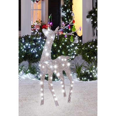 Crystal Deer Outdoor Christmas Decor - 80 LED Lights and 18 Jewels - 19 Best Images About Outdoor Lights On Pinterest Silhouette