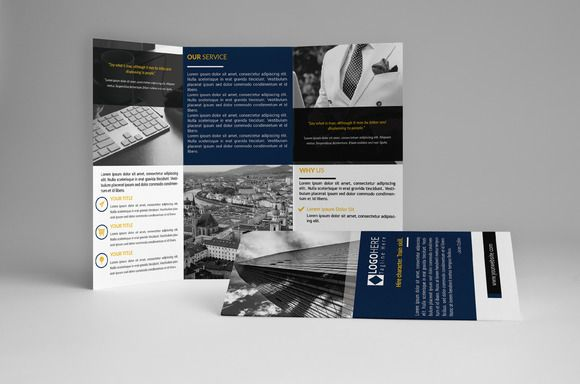 Simple Trifold Brochure by assaiv on Creative Market