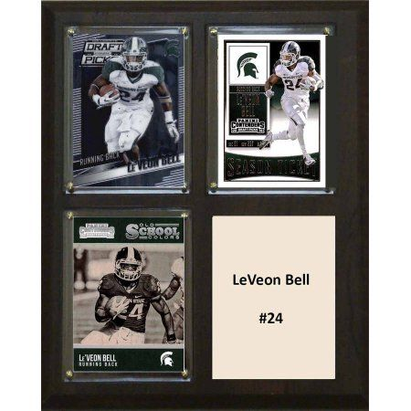 C & I Collectables Ncaa 8 inch x 10 inch Le'Veon Bell Michigan State Spartans 3 Card Plaque