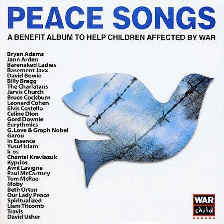 PEACE SONGS Children Benefit 2-Disc CD SET Celine Dion Paul McCartney Bowie Moby #RocknRoll
