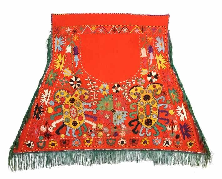 Nomads horse cover, Lakai tribe, Central Asia, Uzbekistan , 19th C. Silk embroidery.