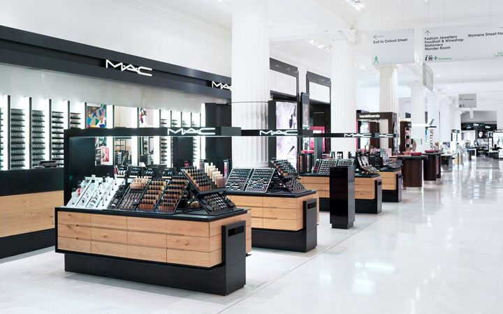 Beauty stores selfridges beauty hall by hmkm london for Retail interior designers in london