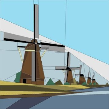 Feb BOM - Windmills, Netherlands Paper Piecing Patterns quiltartdesigns.blogspot.com