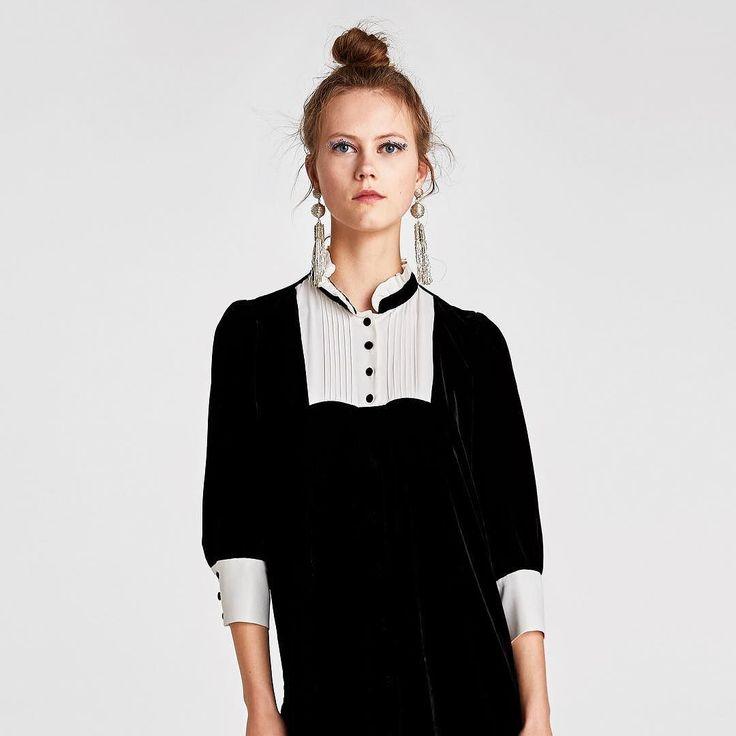 Un look al más puro estilo Belle de Jour para Navidad con vestido negro de terciopelo de @zara que cuesta 3995 euros. . #trendencias #streetstyle #moda #fashion #ootd #wiw #wiwt #style #lookoftheday #trends #tendencias #estilismo #dress #zara #zaralovers