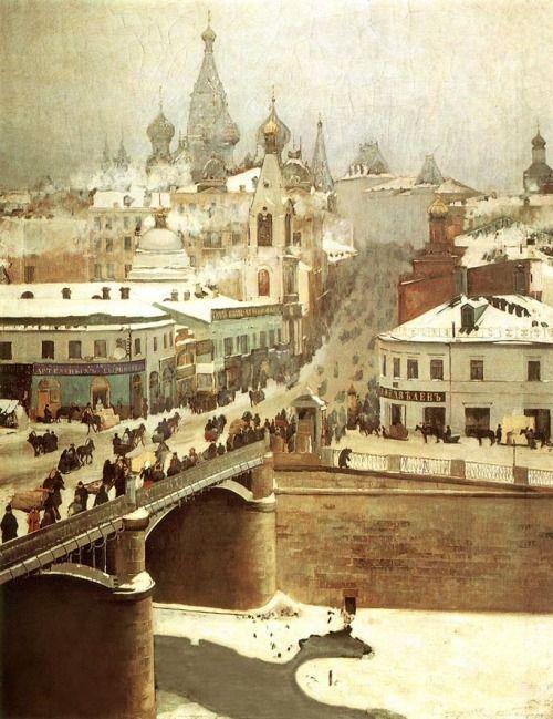 "oldrussia: "" Moscow, 1911 By Mikhail Belyaevsky (Михаил Беляевский). """