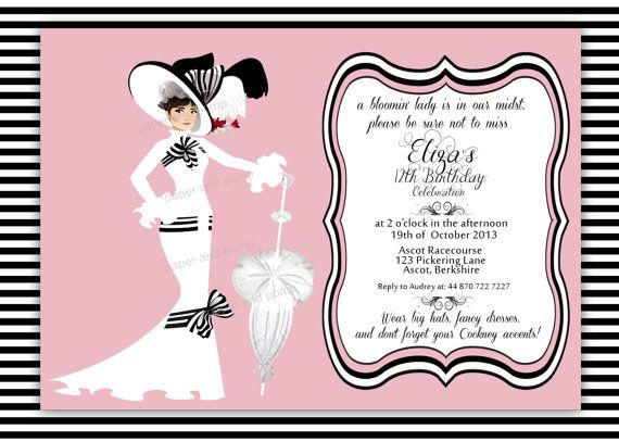 Birthday Invitation Wedding Invitation My Fair By