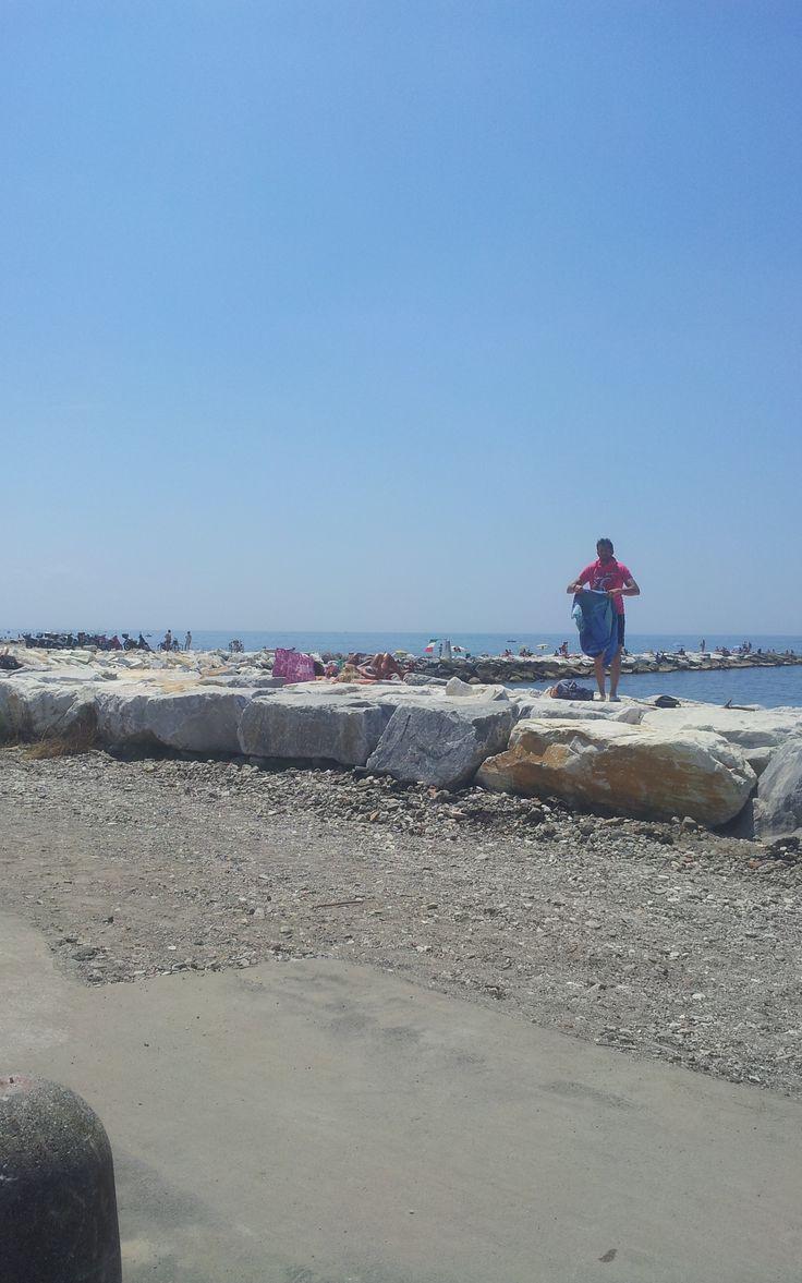 Italian coast. (Vacation Toscany Italy july 2013).