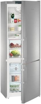 Liebherr CBS1660 30 Inch Counter Depth Bottom Freezer Refrigerator with BioFresh Drawers, DuoCooling, SmartSteel, SuperCool Setting, SoftSystem, Adjustable GlassLine Shelves, Ice Maker, Water Filter, LED, ENERGY STAR and 15 cu. ft. Capacity: Right Hinge