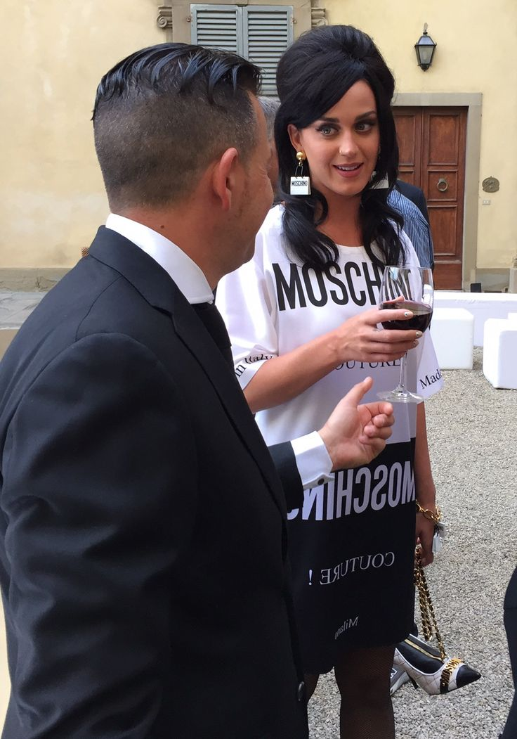 #KatyPerry in Florence at our #Moschino Fashion Party for #Pitti2015  at Palazzo Corsini having a glass of wine at #GuidiLenci 's Open bar. All Rights Reserved GUIDI LENCI www.guidilenci.com