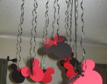 Streamers anniversaire Mickey Mouse Minnie Mouse Streamers fête d'anniversaire
