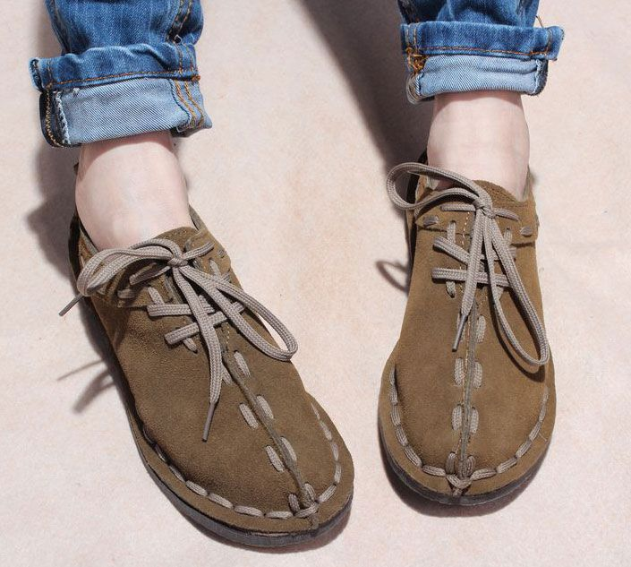 New women's lovers shoes spring shoes lazy genuine leather casual shoes  comfortable super-soft fashion