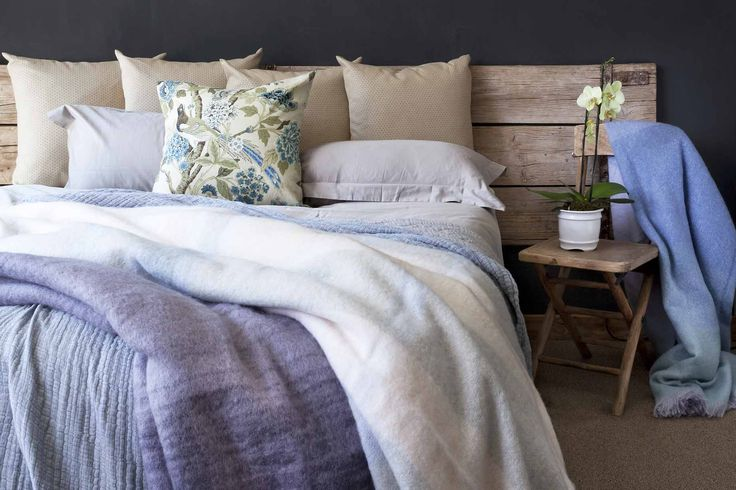 Here we go fans. Our home decor tip of the week: Throws can be layered on the bed, to give you flexibility for temperature changes at night.