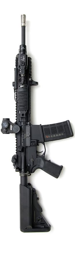 KAC SR 15 & BCM MK 12 Mod 1 I like the long, lean, but sharp lines and for for this model, a far cry from the brutal, heavy feel of most other ARs.