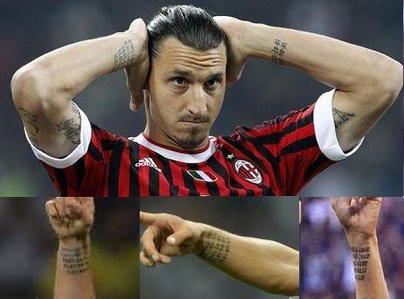 Zlatan Ibrahimovic tattoos | Zlatan Ibrahimovic