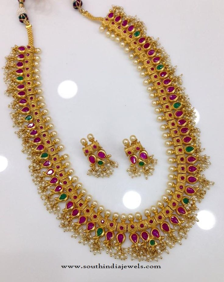 Latest Model One Gram Gold Haram Designs, One Gram Gold Long Haram Models, 1 Gram Gold Haram Collections 2016.