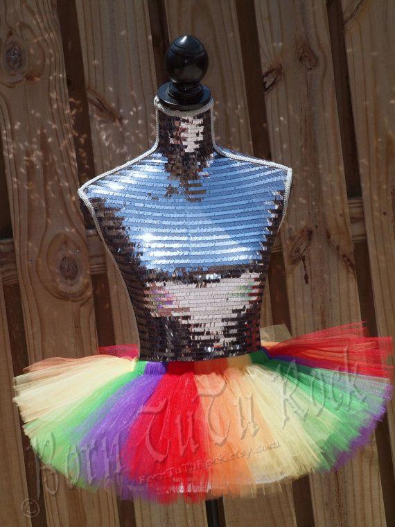 Rock the Rainbow l Skittles inspired Tutu l by BornTuTuRock, $24.50