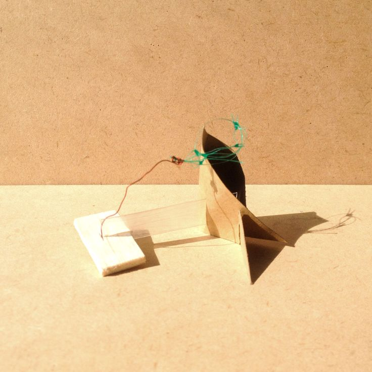 exercise five / model I: transparency film, balsa wood, brown paper, wire and fishing net