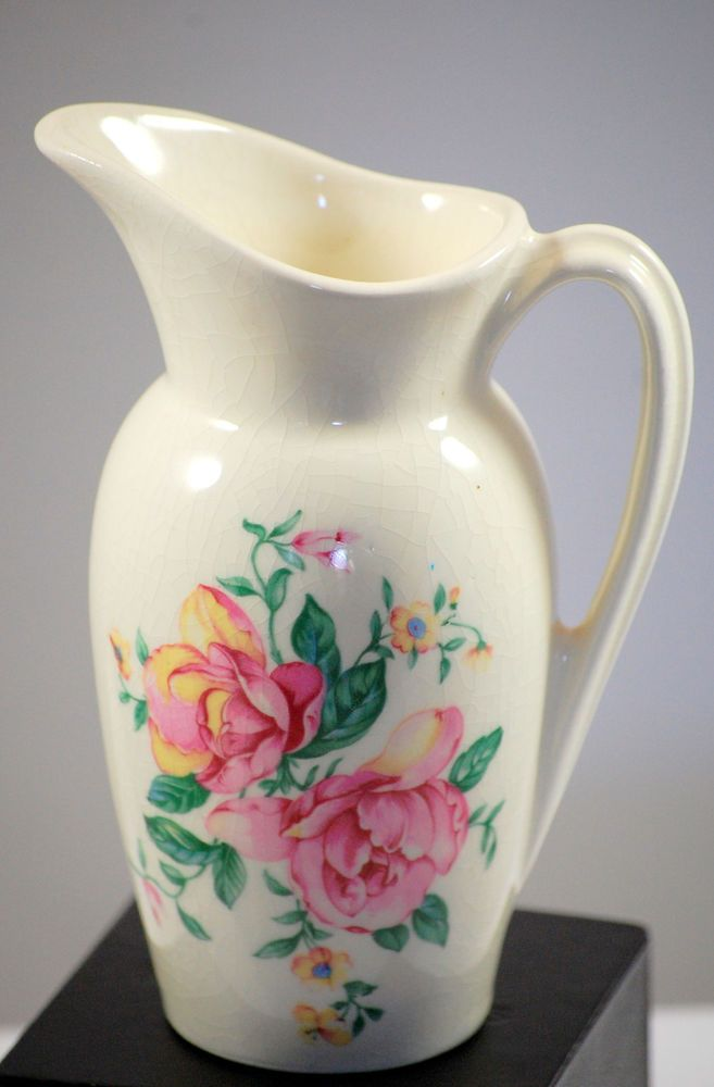 Royal Copley Small Floral Bud Vase Pitcher 1950s Floral