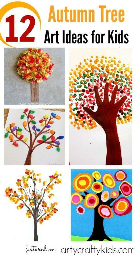 12 Autumn Tree Art Ideas for Kids