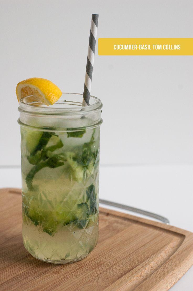 cucumber-basil tom collins | hk in love
