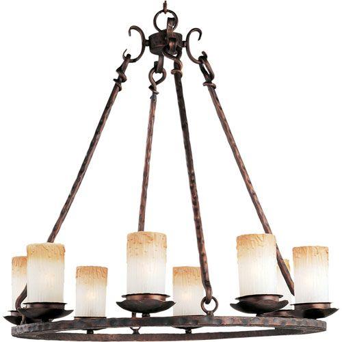 Maxim Lighting International Notre Dame Oil Rubbed Bronze Eight Light Chandelier…