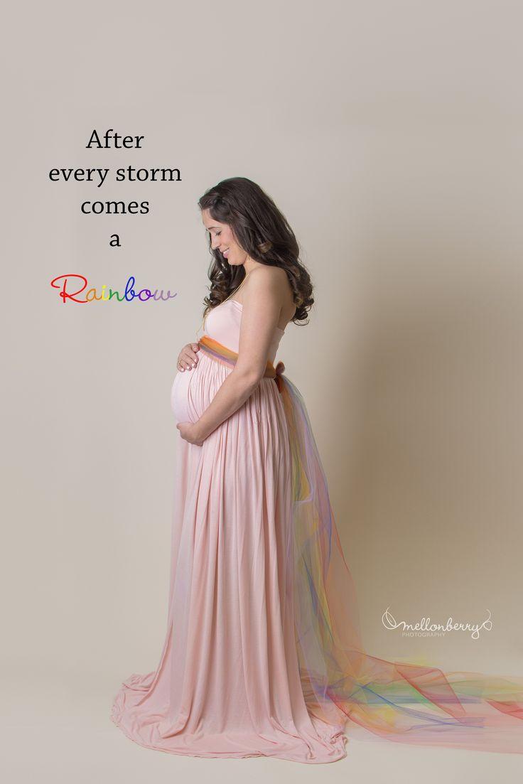 rainbow baby maternity photo, rainbow after the storm, rainbow baby