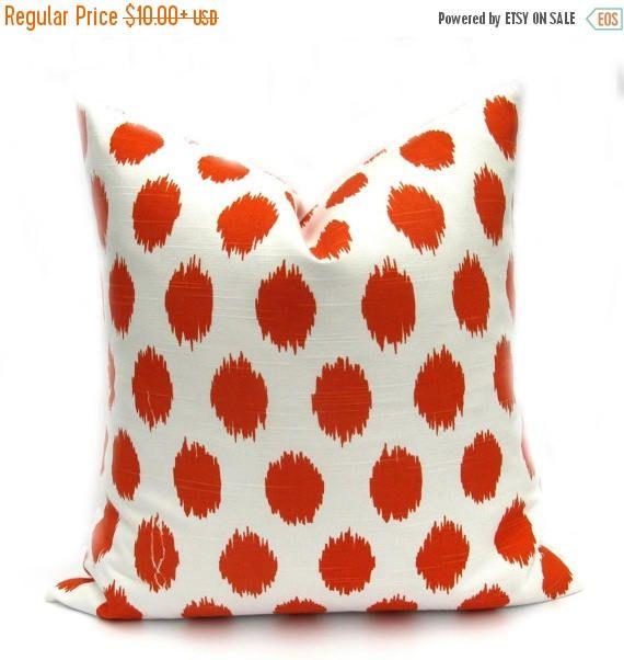 15% Off Sale Orange Throw Pillow  Throw Pillow Covers