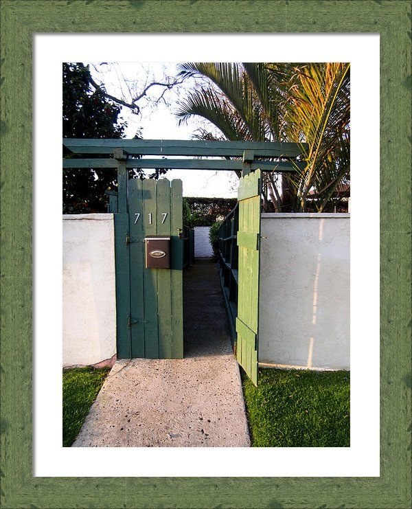 """717 Gate Open Coronado California"" Framed Print By Sharon French"