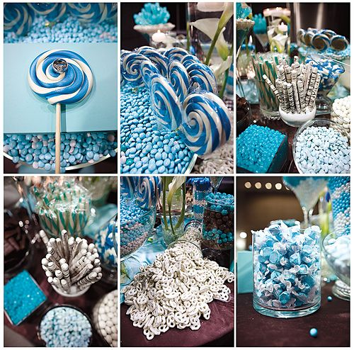 Wedding Candy Bars. Been in love with this idea since the first time I heard it.