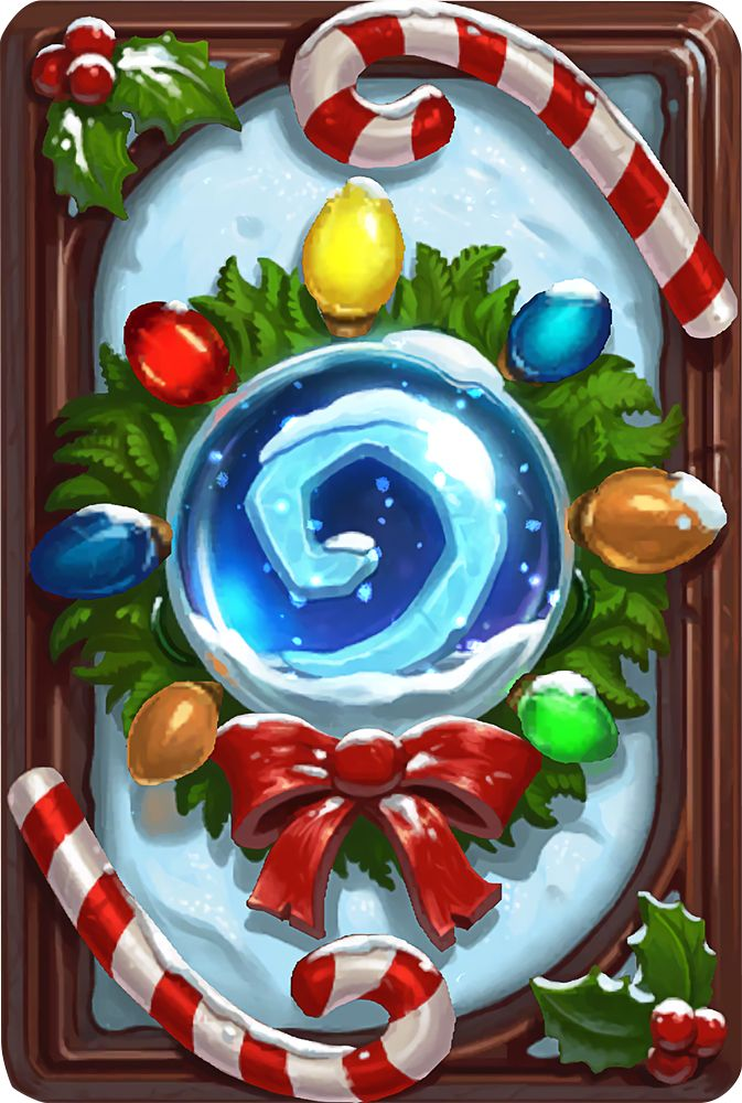 Card Back: Winter Veil Wreath Artist: Blizzard Entertainment