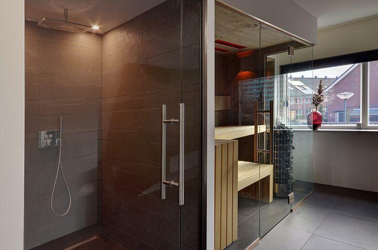 Stonewashed oak infrared sauna by VSB Wellness - Infrarood stonewashed eiken sauna gemaakt door VSB Wellness