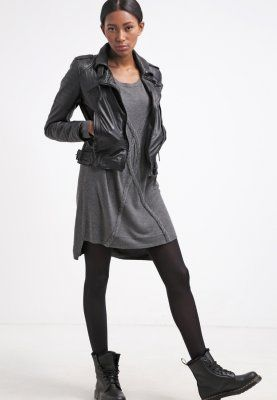 Loving the dress -- Object OBJTASSE - Gebreide jurk - medium grey melange