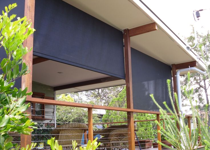 Add style and privacy with custom made blinds. In this view we installed Retractable Roller Blinds, these are our most popular and affordable blind as they are simple to use. Call us 1300 799 944 for a free measure and quote