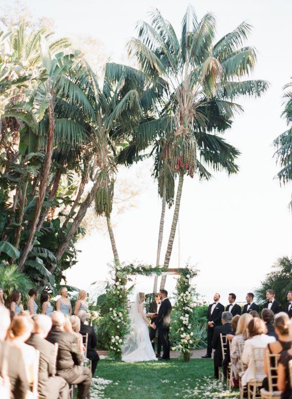 Blue + Gold Santa Barbara Biltmore Indoor Wedding - Style Me Pretty