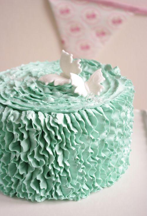 Ruffle cake Oreo sur une base de layer cake Oreo