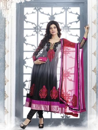 Black & Pink Designer Bollywood Salwar Suit.