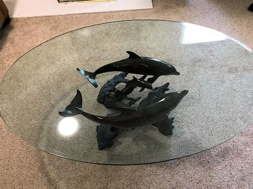 Wyland-Galleries-034-Reef-Visit-034-Bronze-Sculpture-coffee-table