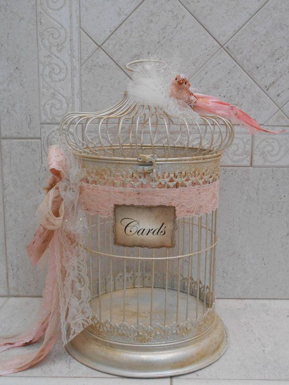 This Beautiful Birdcage Wedding Card Holder Would Be The Perfect Addition To Any Shabby Or Vintage