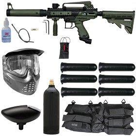Tippmann Cronus Tactical Paintball Gun Starter Package Olive / Black