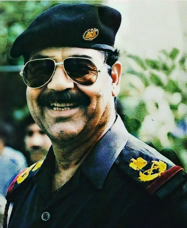 Pin By روائع الصور On صور صدام حسين عالية الوضوح Beard Logo Photo Collage Template Mirrored Sunglasses Men